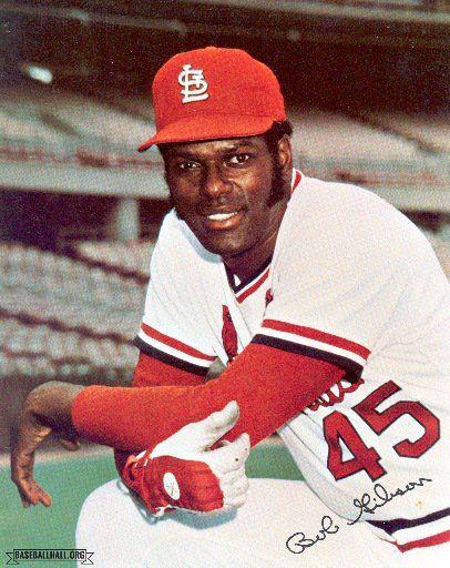 St Louis Cardinals pitcher Bob Gibson