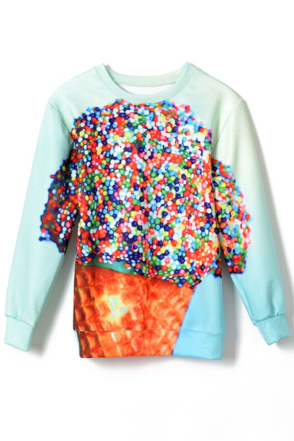 Massive Candy Print SweatshirtOASAP Giveaway, 10 pieces per day, till the end of 2014! Easiest way to get free clothing!
