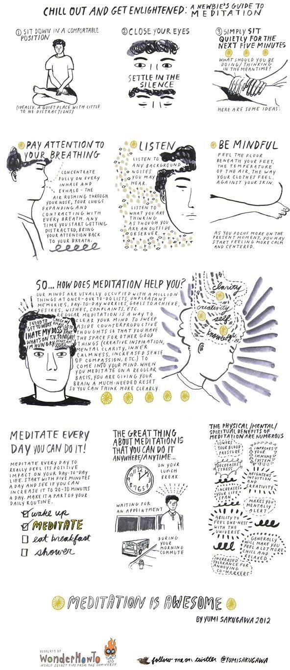 """HEALTHY LIFESTYLE - """"Chill Out and Get Enlightened: A Newbie's Guide to Meditation"""". @barbryjones"""