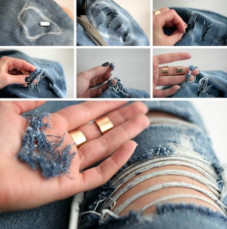 Consejos para que lleves tus pantalones rasgados de forma chic