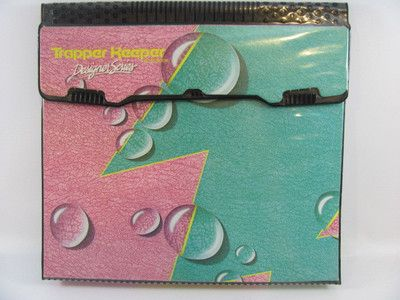 Vintage Mead Notebook TRAPPER KEEPER Designer Series Bubbles Rain 3 Ring Binder