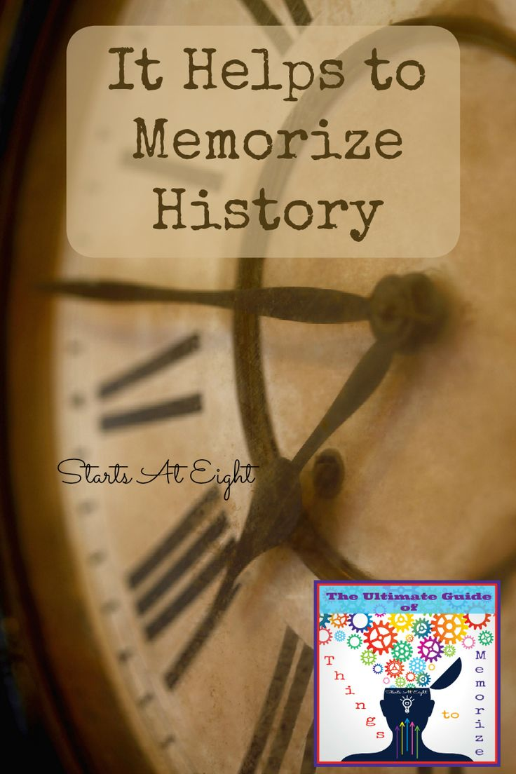 It Helps to Memorize History Lists