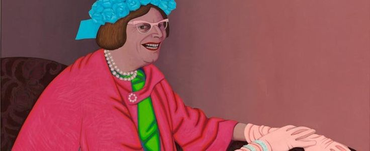 Archibald Prize 1969 Finalist. John Brack 'Barry Humphries in the character of Mrs Everage""