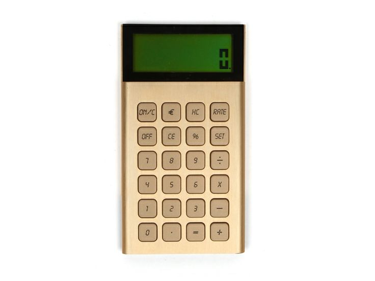GOLD CALCULATOR  For your finance pals, this is how you do new math.  Available at michelevarian.com, $48.