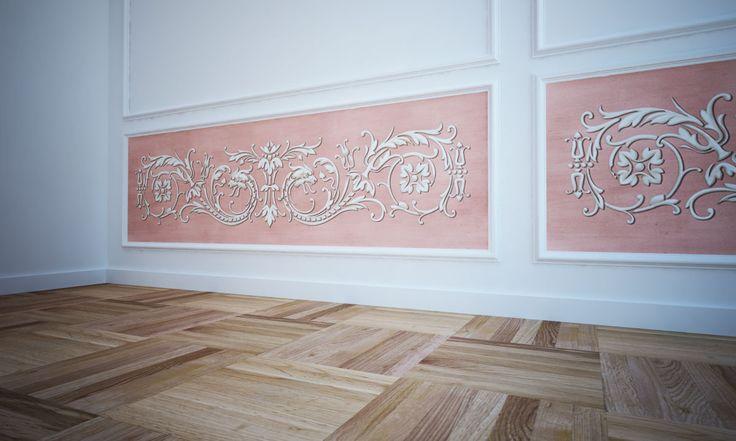 Carta da Parati Moderna e Artistica - Ornamenti
