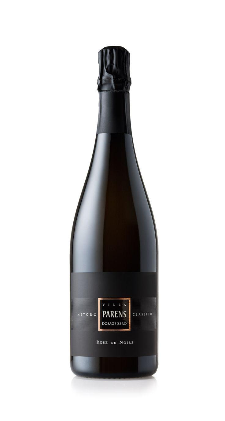 VILLA PARENS Classical Method - ROSE' DE NOIRS Dosage Zero Millesimée Vintage, rosé sparkling wine made from pure Pinot Noir, because challenges never end.
