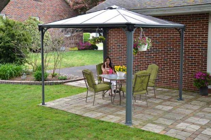 Photo Tonnelle 3x3m Grise Jardin Pinterest Tonnelles Tonnelle De Jardin Et Mobilier De Jardin