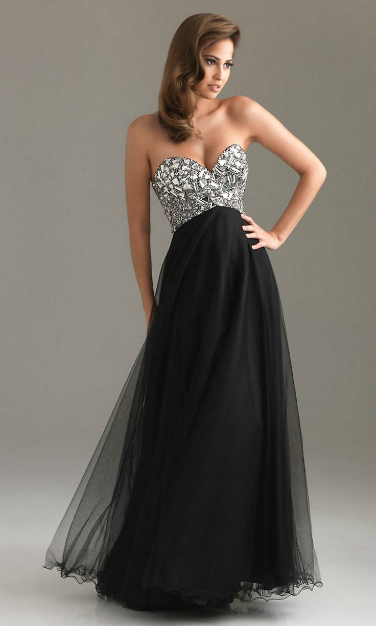 Black dress gown - 20 Sexy Black Cocktail Prom Dresses
