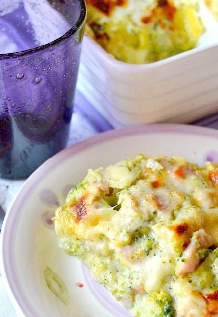 Lasagne di broccoli e prosciutto