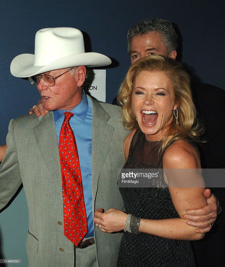 Larry Hagman and Sheree J. Wilson during 2006 TV Land Awards - Backstage and Audience at Barker Hangar in Santa Monica, California, United States.