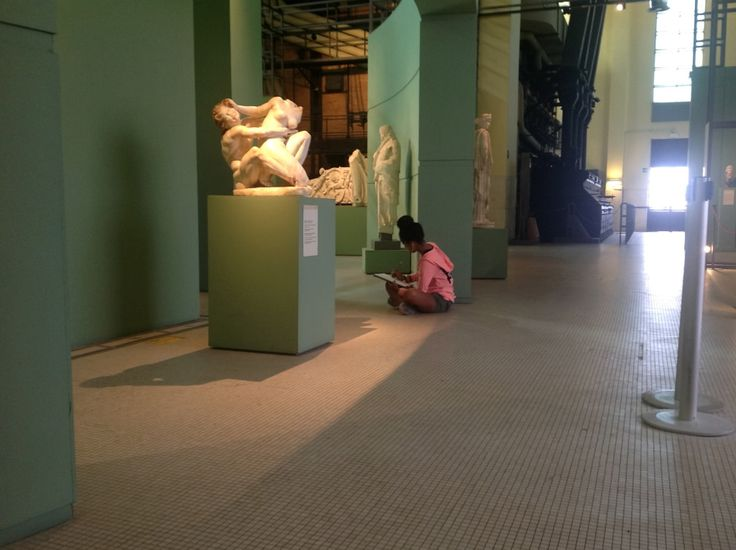 #AUR #art #student at an on-site #class in #rome