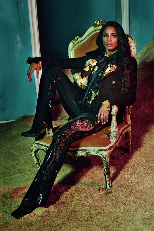 American Singer Ciara makes her modelling debut for Roberto Cavalli as the face of its autumn/winter 2015 campaign