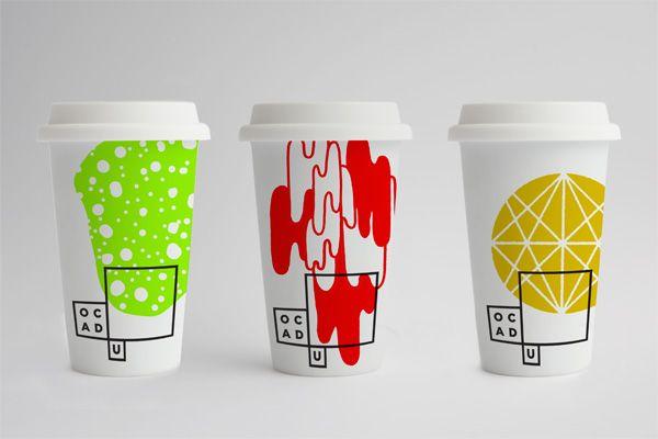 OCADU Logo and IdentityBruce Mau, Visual Identity, Coffe Cups, Mornings Coffe, Display Art, Brand, Mau Design, Ocad Universe, Paper Cups