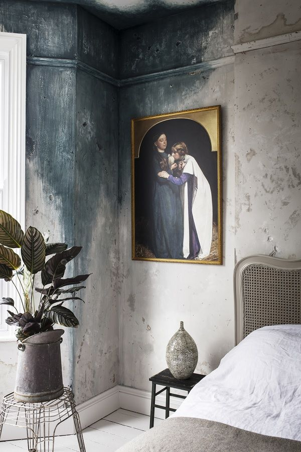 Romantic and decadent wall art featuring melancholic romantic paintings