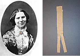 Clara Barton presentation - tips for how she dressed, what props to bring to class, photo gallery, primary source documents.