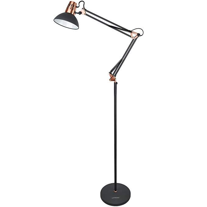 Lepower Metal Floor Lamp Architect Swing Arm Standing Lamp With