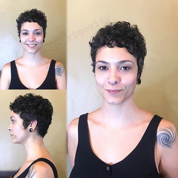 Very Short Curly Hairstyle 2019 Best Short Curly Hair Ideas In 2019 Short Curly Hair Curly Hair Styles Curly Pixie Haircuts