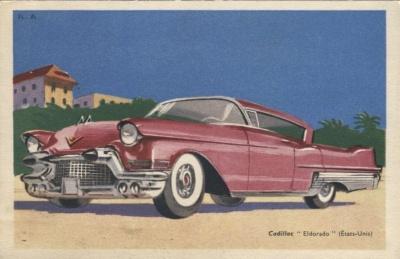 Chocolats Tobler Postcard - Cadillac Eldorado (États-Unis) Signed RA