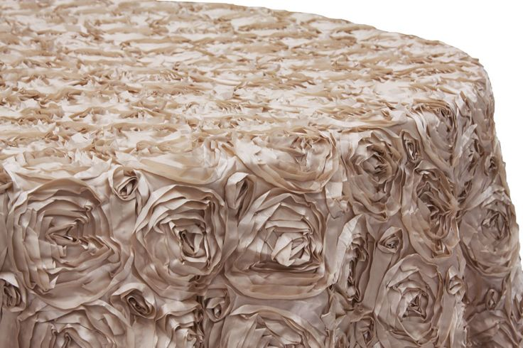 Wedding Rosette Satin 120 Quot Round Tablecloth Champagne