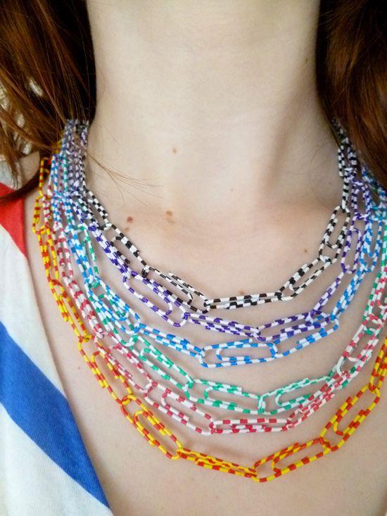 DIY Paperclip necklace
