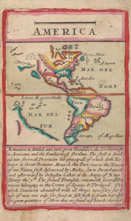 Antique map of the Americas, John Seller, 1677