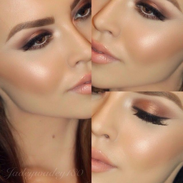 Beautiful makeup with peachy glow. Stunning! | thebeautyspotqld.com.au