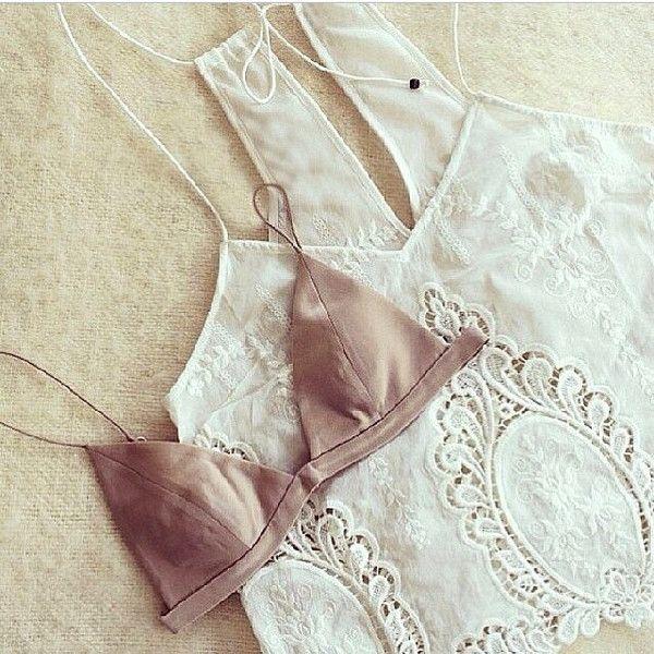 mini triangle bralette + lace