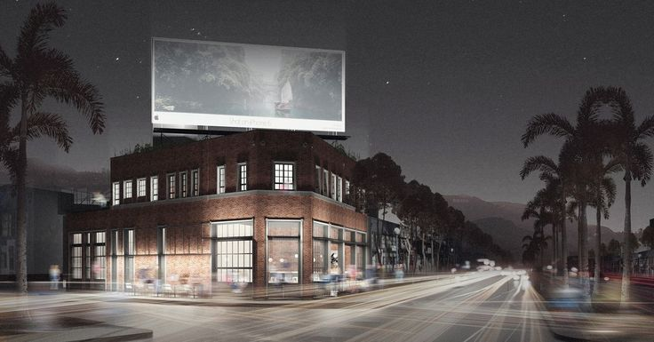 Small boutique hotel in the plans on the corner of Doheny and Santa Monica Blvd.