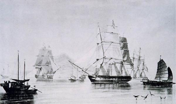 Opium ship of English.