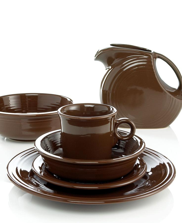 Fiesta dinnerware in chocolate  sc 1 st  Pinterest & 716 best Fiestaware images on Pinterest | Fiesta ware Homer ...