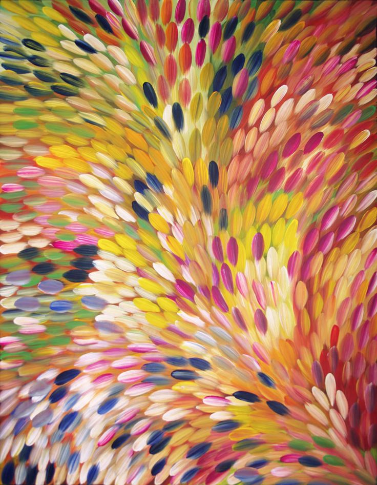 Australian Aboriginal Art Painting by GLORIA PETYARRE - Bush Medicine Leaves - 200 x 154 cm - GP1792 #artwork #canvas #australia