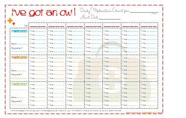 i've got an 'ow' chart | Get Organized | Pinterest | Kid, Medical ...