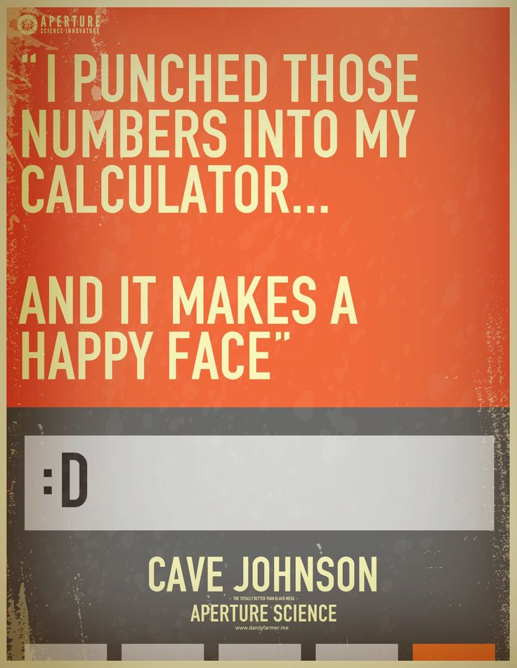 Portal 2 Funny | funny portal Cool signs portal 2 calculator cave johnson lemons mantis ...