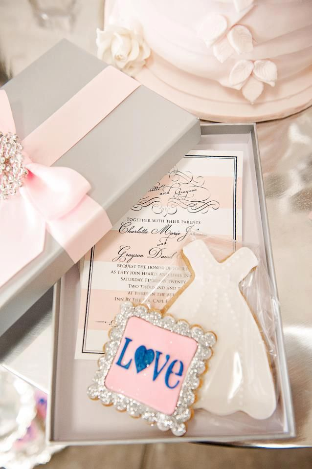 Printable Pink and White Stripe Glam Wedding