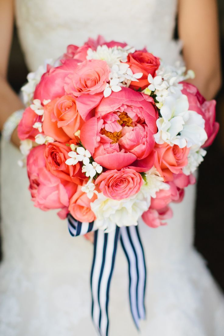 bouquet de mariee mariage navy pink