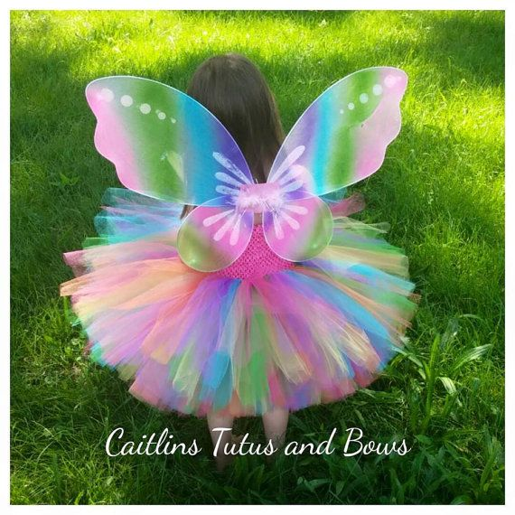 Rinbow butterfly tutu butterfly tutu dress by CaitlinsTutusandBows