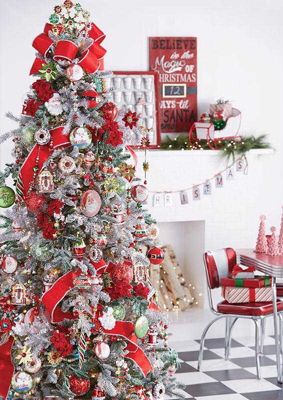 Santa S Diner Christmas Tree By Raz Imports Pre Decorated Christmas Tree Christmas Tree Christmas Tree Themes