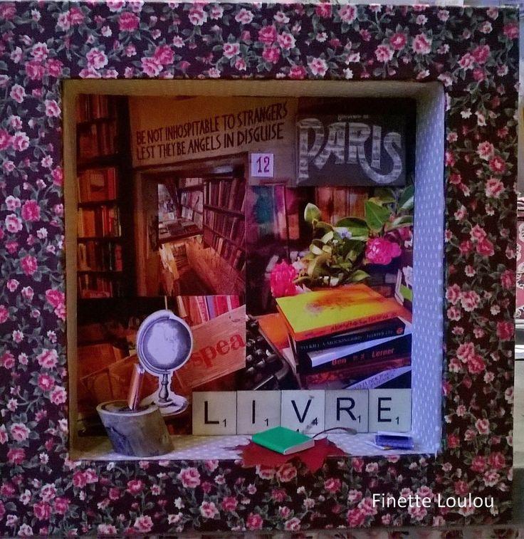 """Diorama Librairie """"Au plaisir de lire""""."""