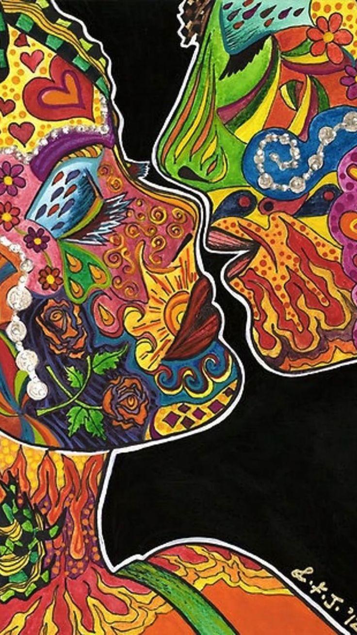 Twin Flame Reading, Twin Flame Love, Twin Flames, Hippie Love, Hippie Art, Chakra, Psychadelic Art, Flame Art, Urban Art