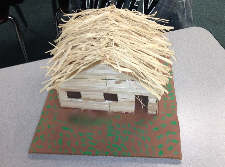 Building project pilgrim 39 s log cabin 2nd grade for Log cabin project