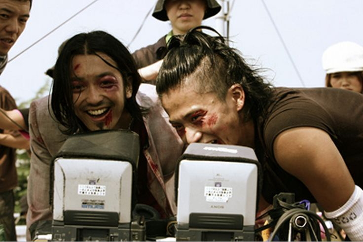 nobuaki kaneko & oguri shun || Narumi Taiga + Takiya Genji || Crows Zero behind the scene