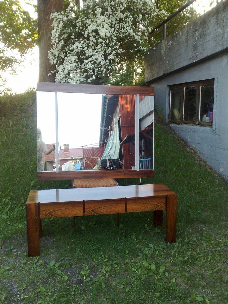 (6) FINN – Palisander Entre Speilkommode Design Sven Ivar Dysthe Rosewood Hall Mirror
