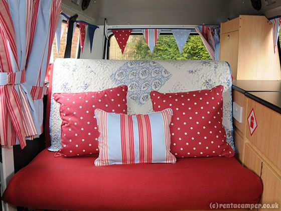 So cute. So many done up Kombi camper vans done up for hire in the UK - what a great weekend get away idea.