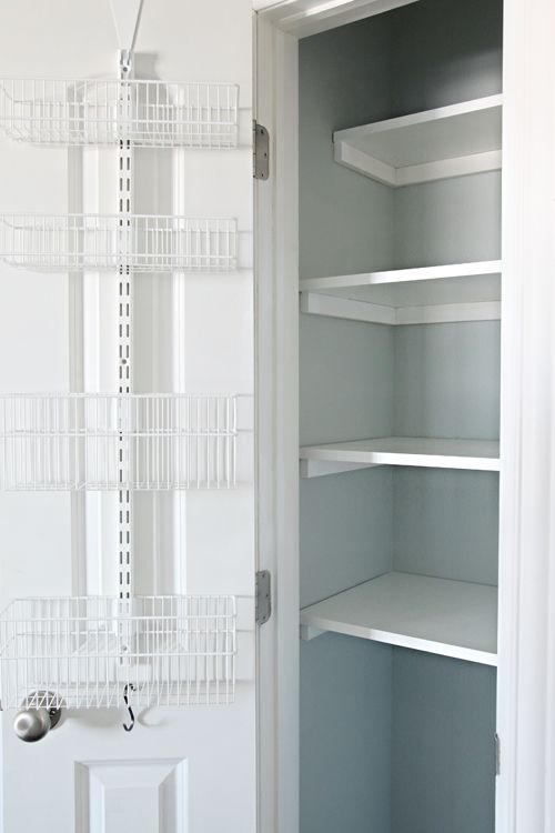 55organized Linen Closet Elfa Baskets And Storage Over