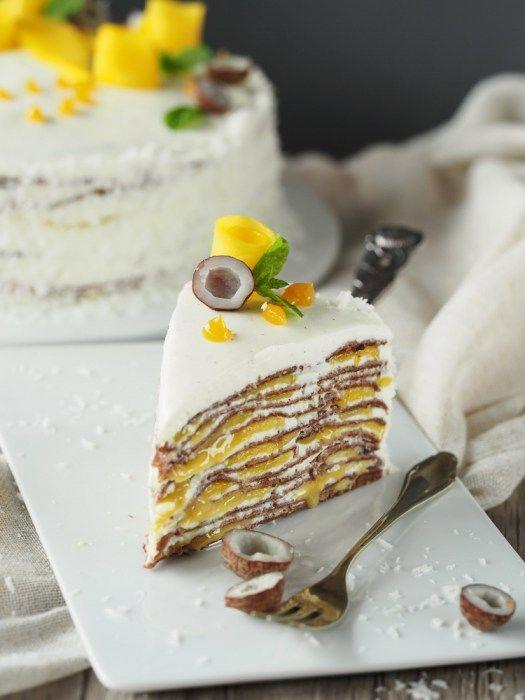 1 jahr oder mango cr pe torte mit maracuja und schokolade. Black Bedroom Furniture Sets. Home Design Ideas