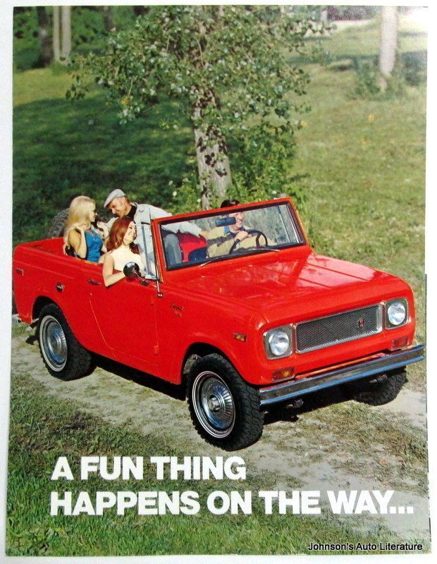 IH International 1971 Scout Truck Sales Brochure