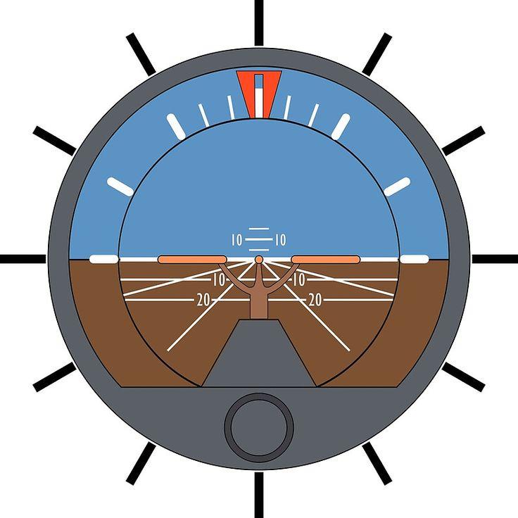 Aviation Attitude Indicator Clock