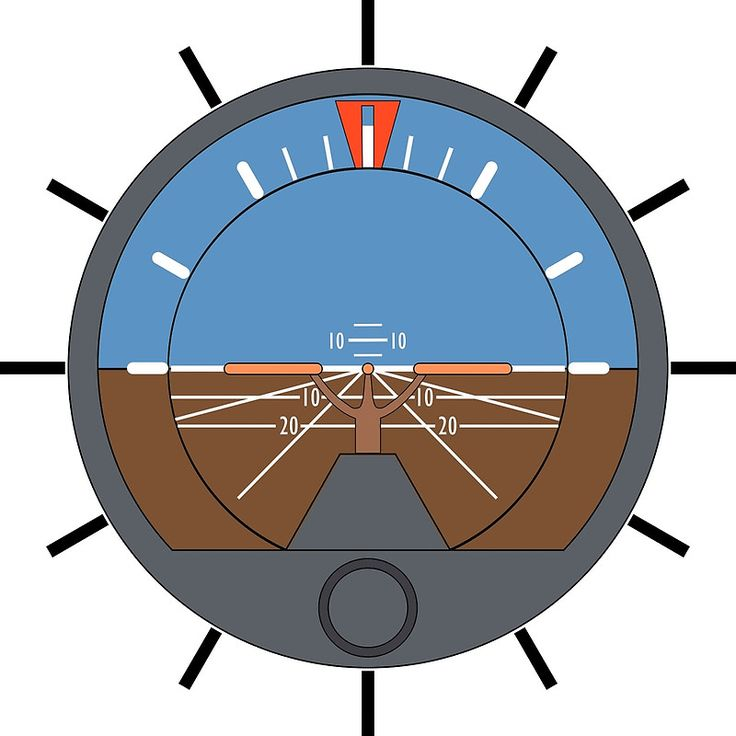 Aviation Attitude Indicator Clock