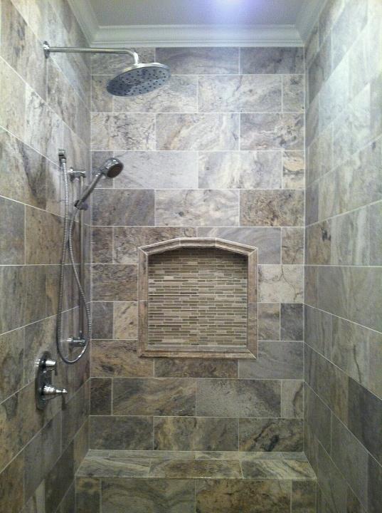 Travertine Tiled Bathrooms
