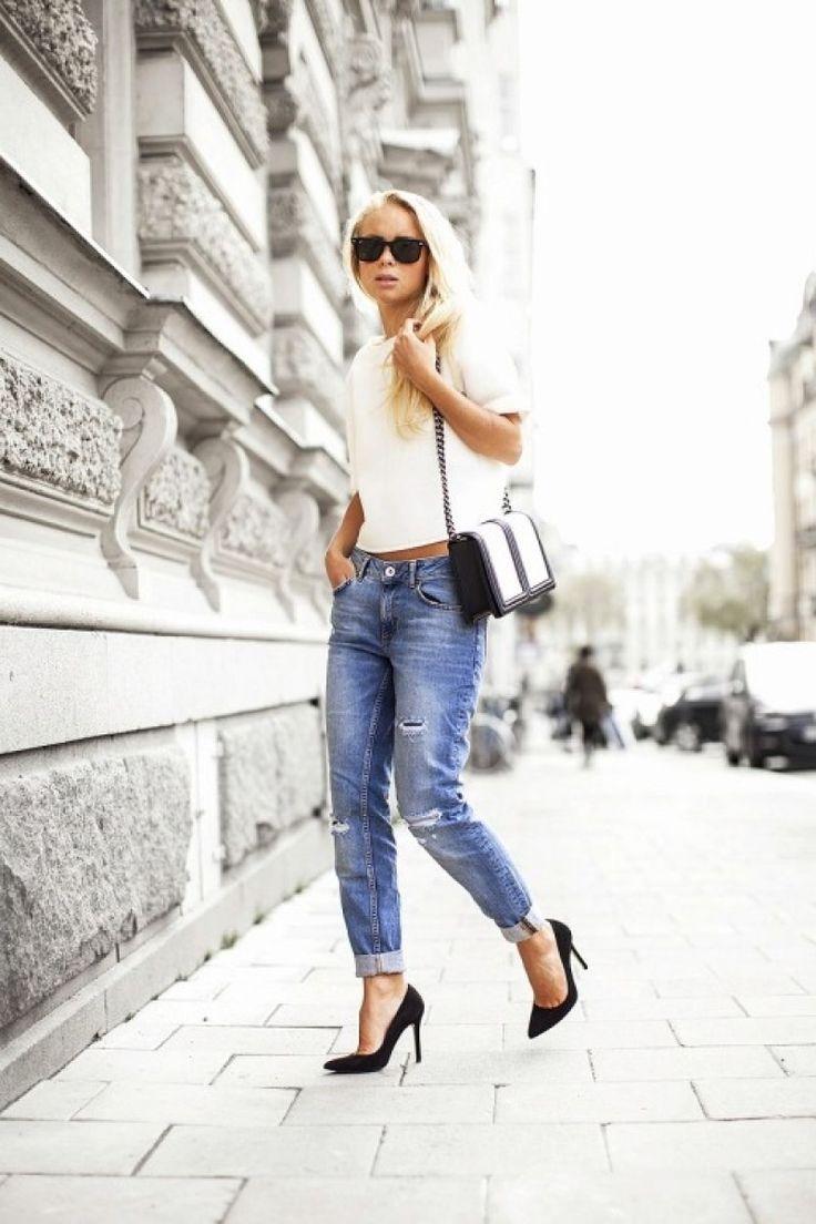 Vestir con Jeans y Tacones Altos o Botines 19